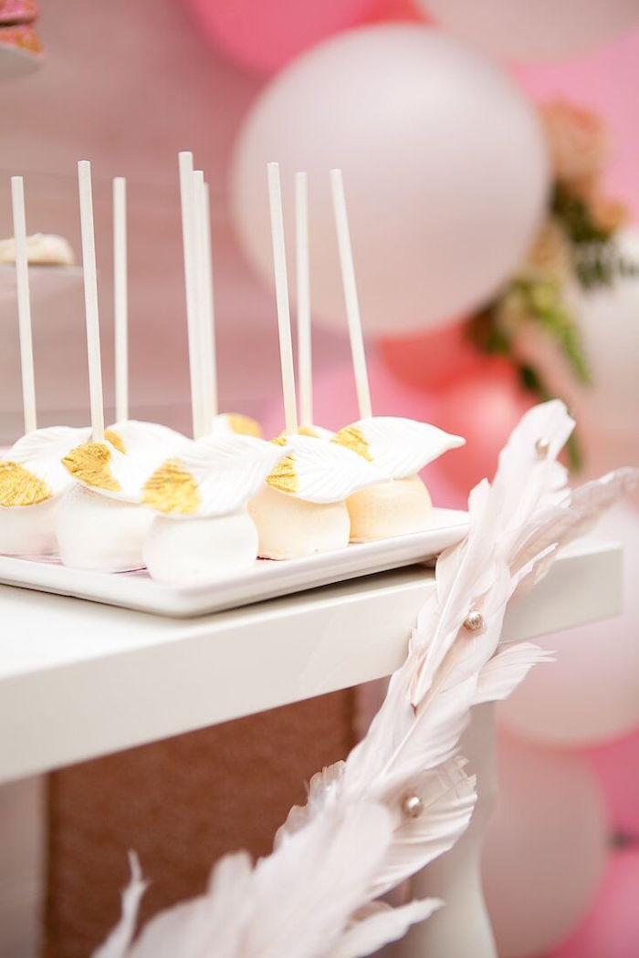 Karas Party Ideas Magical Sweet Swan Birthday Party