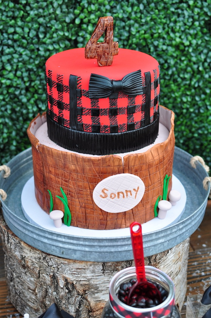 Karas Party Ideas Winter Camping Themed Birthday Party