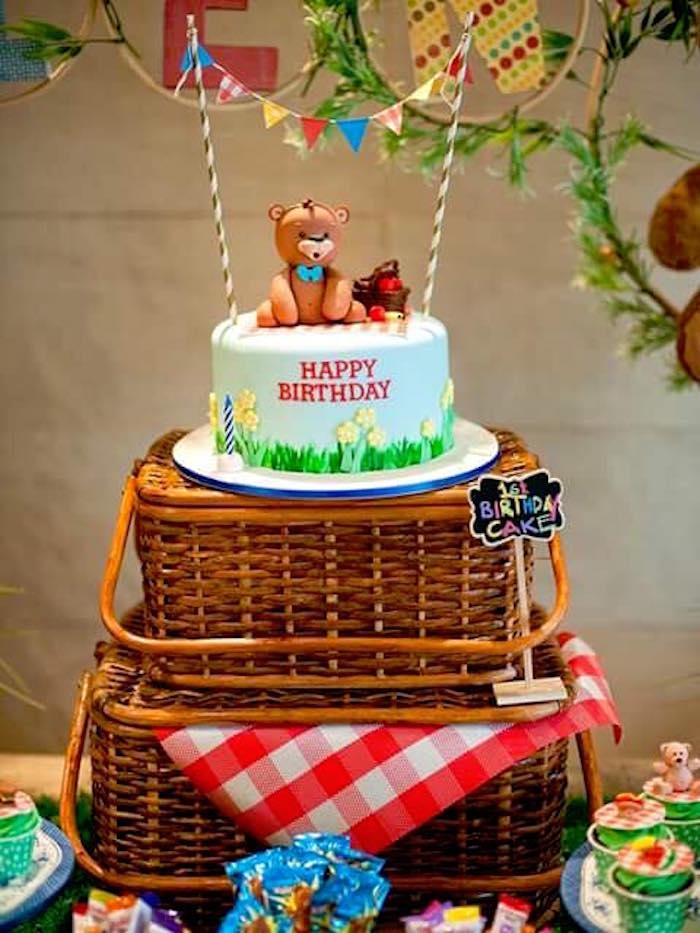 Karas Party Ideas Teddy Bear Picnic Birthday Party  Kara