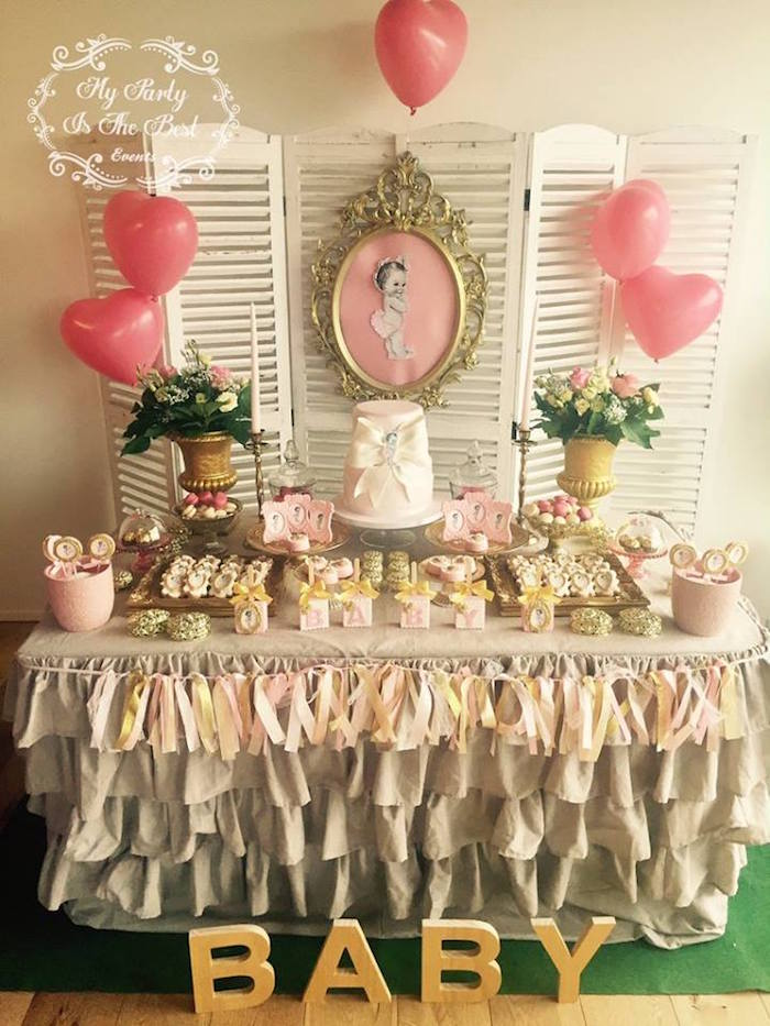 Kara's Party Ideas Vintage Baby Doll Baby Shower
