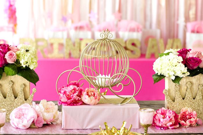 Karas Party Ideas Pink Amp Gold Princess Birthday Party