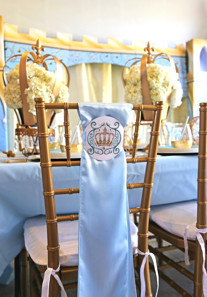 baby girl chair portable lumbar support for kara's party ideas royal prince shower |