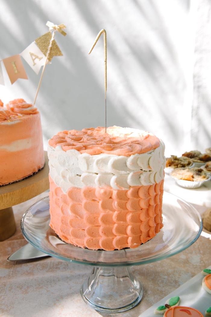 Kara S Party Ideas Sweet As A Peach 1st Birthday Party