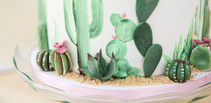 Karas Party Ideas Desert Love Cactus Themed Birthday