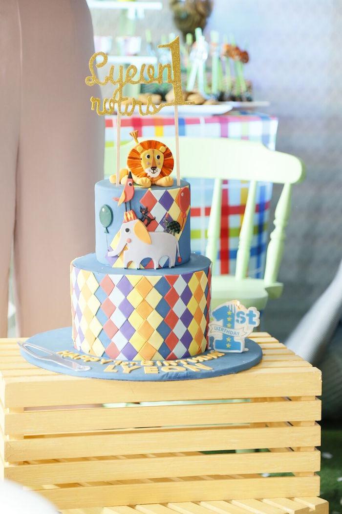 Kara S Party Ideas Geometric Jungle Animal Birthday Party