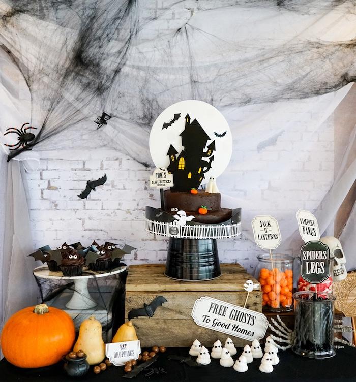 Kara's Party Ideas Modern Haunted House Halloween Party Kara's