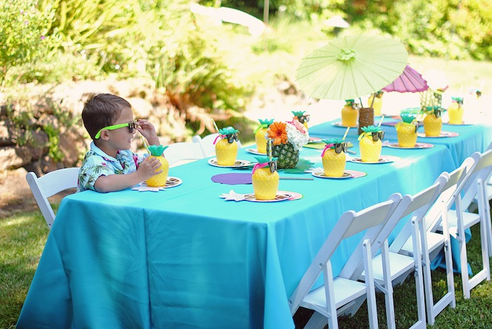 Karas Party Ideas Moana Hawaiian Luau Birthday Party