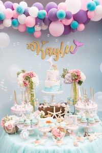 Kara's Party Ideas Pastel Mermaid Birthday Party | Kara's ...