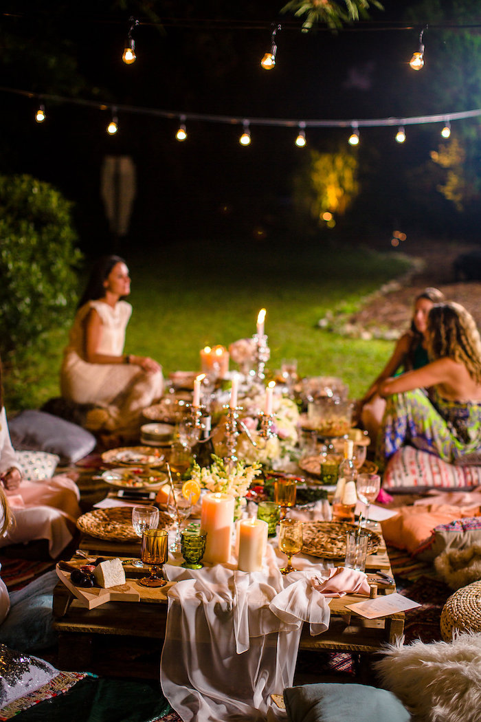 Karas Party Ideas Boho Midsummer Nights Soiree  Karas
