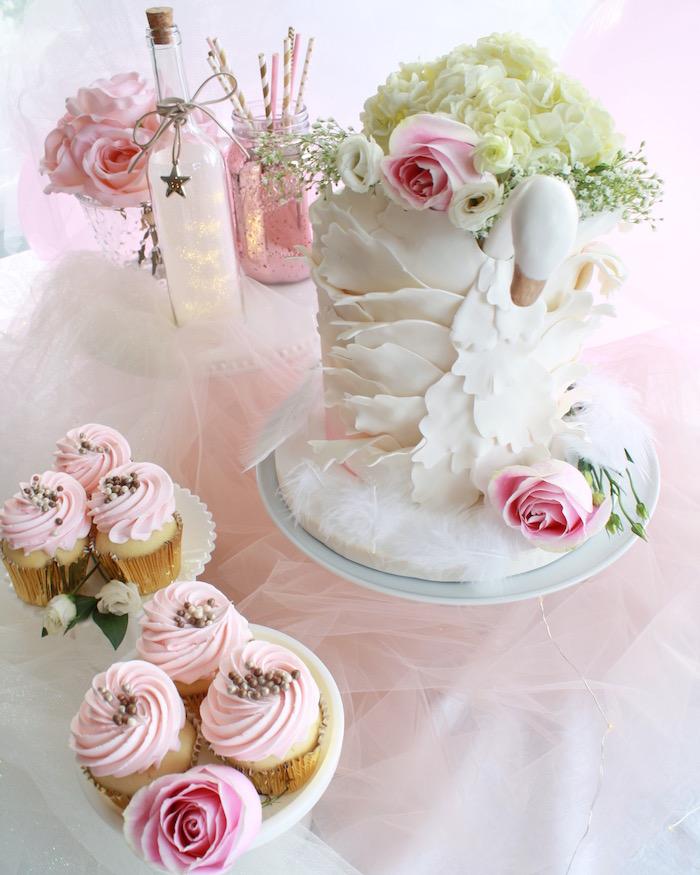 Karas Party Ideas Swan Princess 1st Birthday Party  Kara