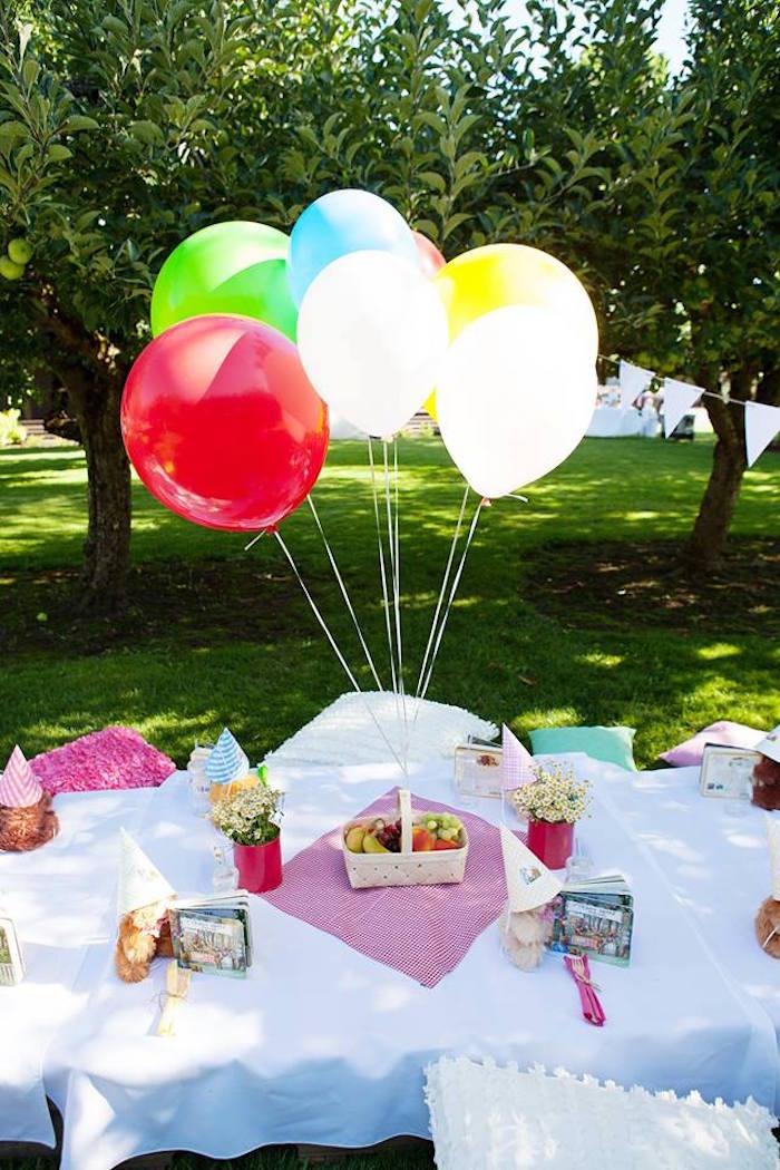 Karas Party Ideas Sunny Teddy Bear Picnic Birthday Party