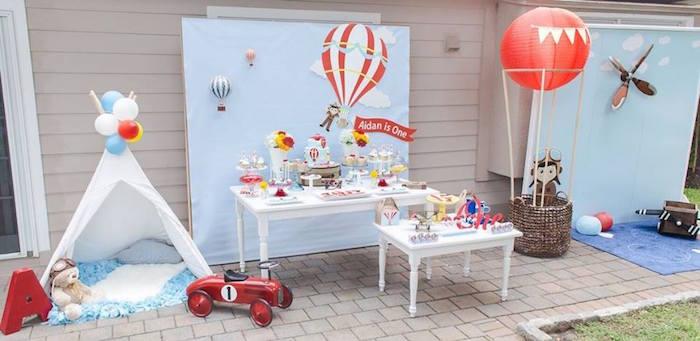 Kara S Party Ideas Aidan S Hot Air Balloon Birthday Kara