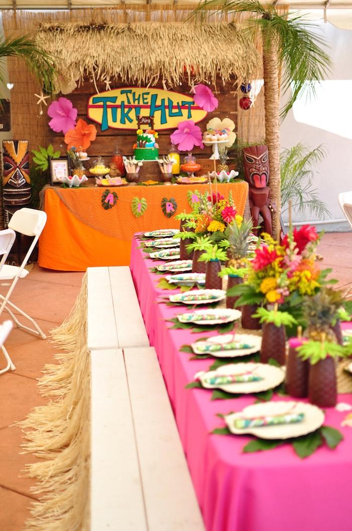 Karas Party Ideas Tiki Hut Luau Party  Karas Party Ideas