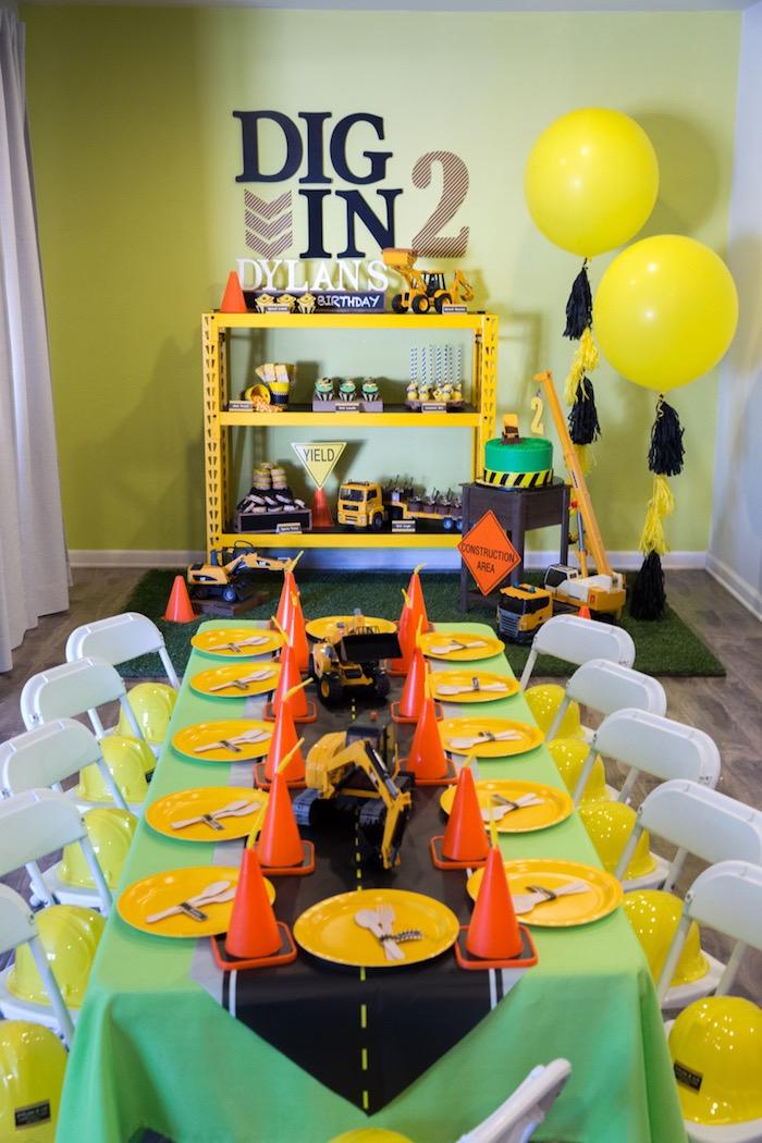 Kara S Party Ideas Construction 2nd Birthday Party Kara