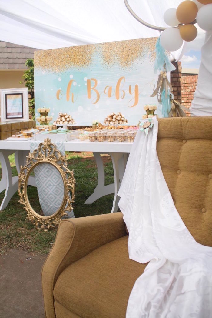 Karas Party Ideas Rustic Glam Baby Shower  Karas Party