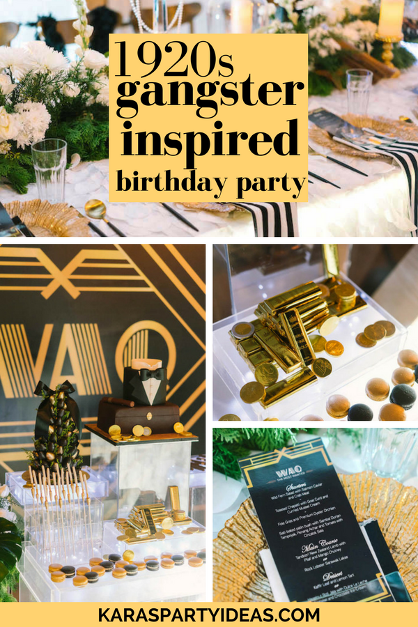 Karas Party Ideas 1920s Gangster Inspired Birthday Party  Karas Party Ideas