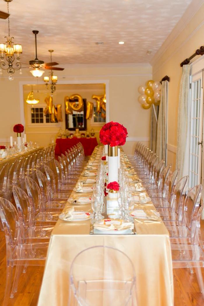 just chairs and tables press back chair kara's party ideas elegant graduation |