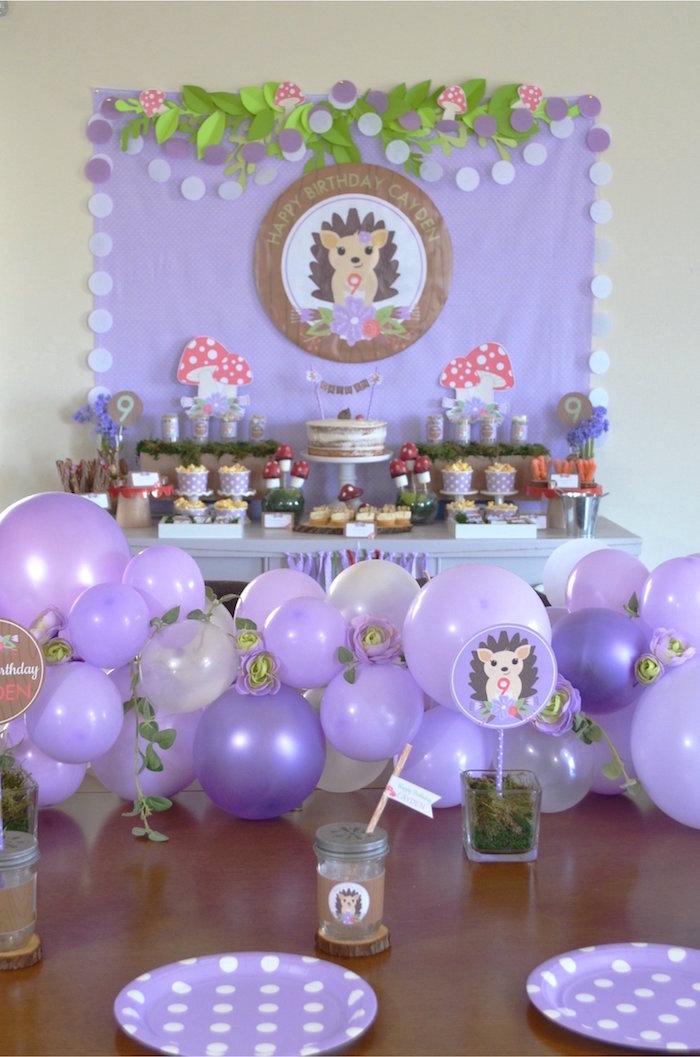 Kara S Party Ideas Woodland Hedgehog Birthday Party Kara