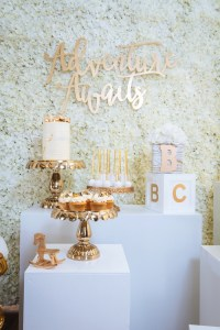 Kara's Party Ideas White and Gold Baby Shower | Kara's ...
