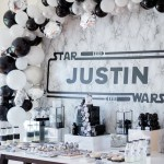 Kara S Party Ideas Monochromatic Star Wars Birthday Party Kara S Party Ideas