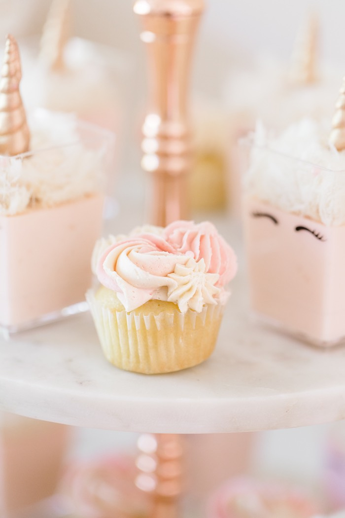Karas Party Ideas Rose Gold Amp Blush Pink Unicorn Party