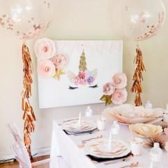 Party Chair Rental Roman Back Extension Muscles Kara's Ideas Rose Gold & Blush Pink Unicorn |