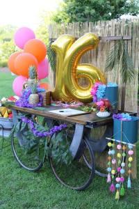 Kara's Party Ideas Sweet 16 Luau   Kara's Party Ideas