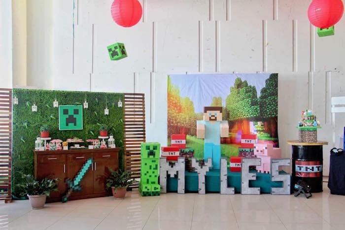 7th birthday minecraft party