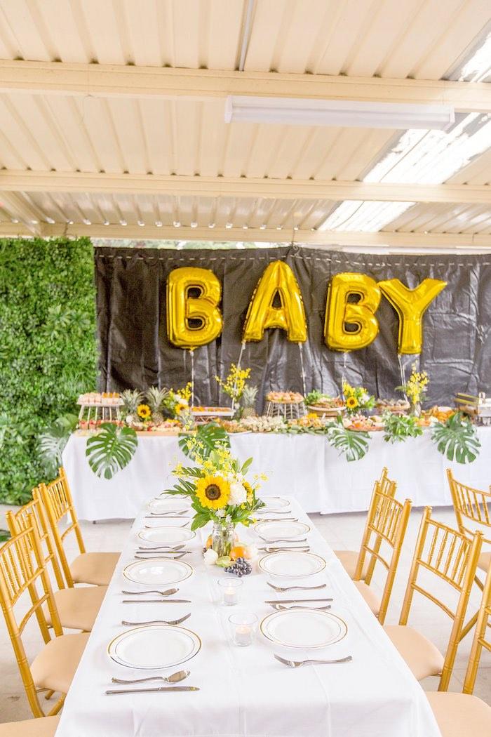 Sunflower Centerpieces Baby Shower : sunflower, centerpieces, shower, Kara's, Party, Ideas, Summer, Garden, Shower