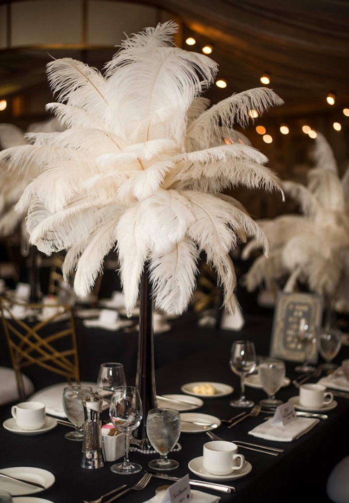 Kara S Party Ideas Great Gatsby Inspired Dinner Party
