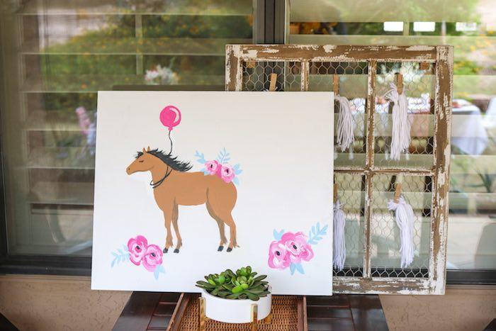 wild free horse themed birthday party