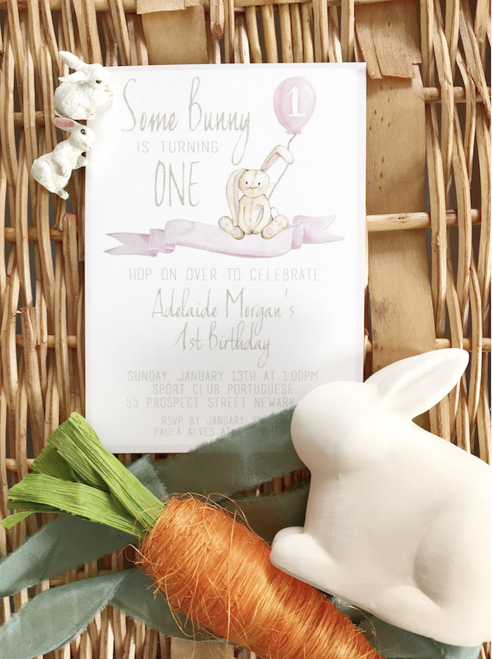 some bunny is one birthday party