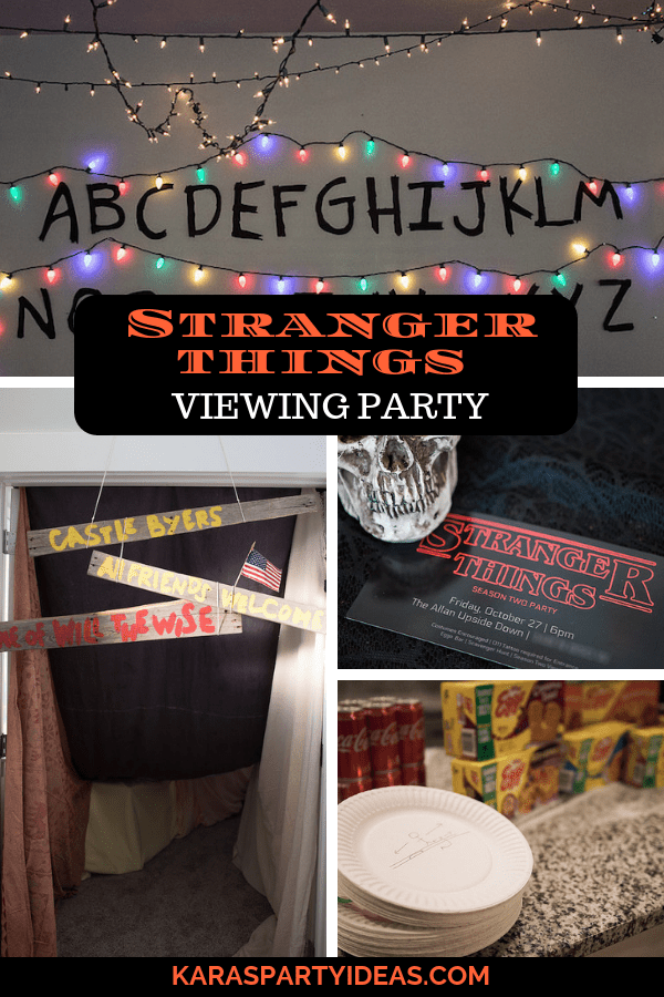 stranger things viewing party