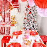 Kara S Party Ideas Pink Red Modern Christmas Party With Canary King Kara S Party Ideas