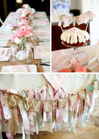 Kara's Party Ideas Vintage Shabby Chic Baby Shower | Kara ...