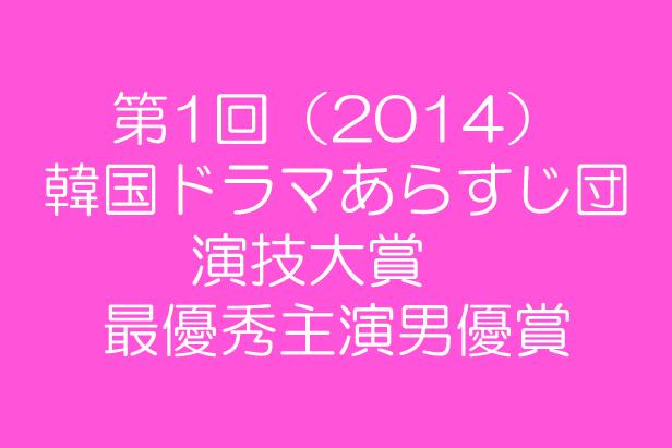 第1回(2014) 韓国ドラマあらすじ団 演技大賞  最優秀主演男優賞