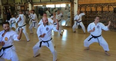 Kata practice in CBD dojo