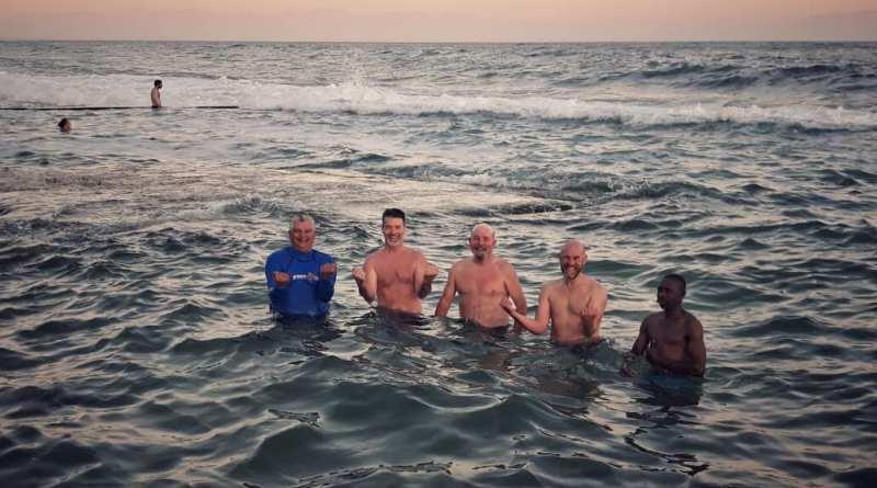Kalk Bay seniors cooling off.