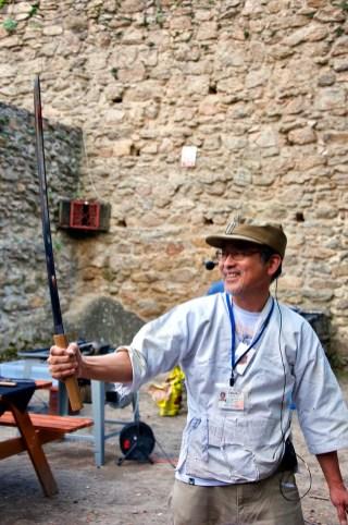 Miecz wykonany przez Mistrza.