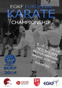Plakat Karate EM 10