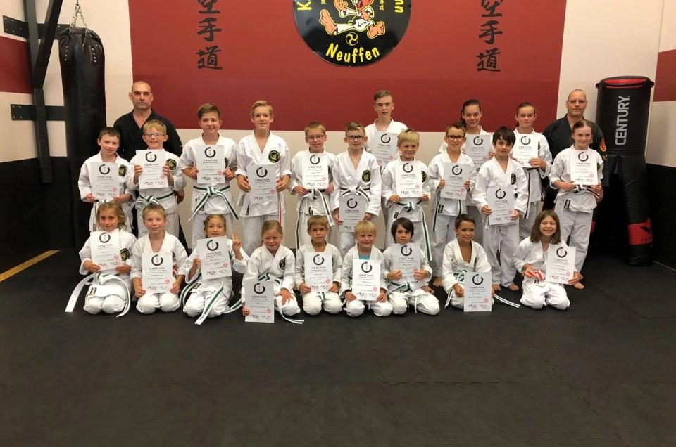 Karate Kinderprüfung am 06.07.2019