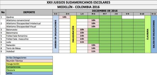 calendario-juegos-deportivos-sudamericanos-medellin-2016