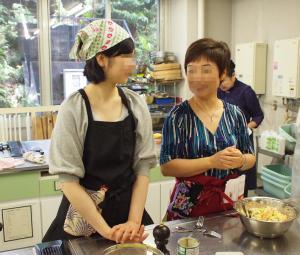 ロシア料理教室の参加者