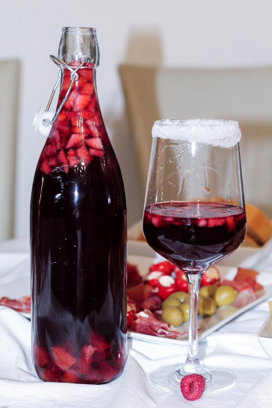 food friday spanish sangria strawberry