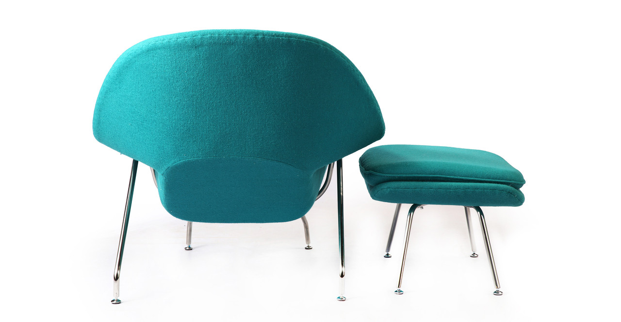 Chairs With Ottoman Womb Chair Ottoman Turquoise
