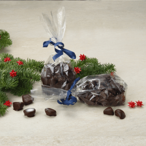Syltet ingefær med mørk chokolade