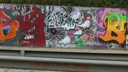 Dark graffitti in Tor Bella Monaca
