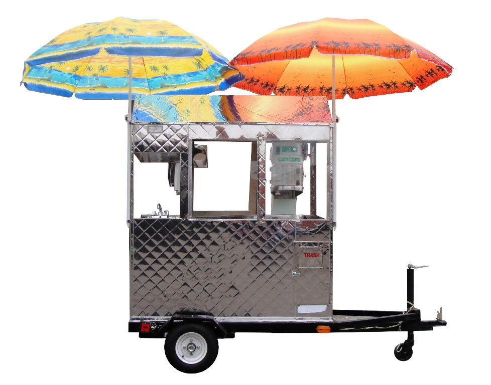 Snow Cone Trailer Cart Kareem Carts Commissary