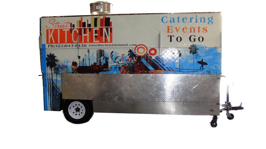 Long Grilling Cart Kareem Carts Commissary