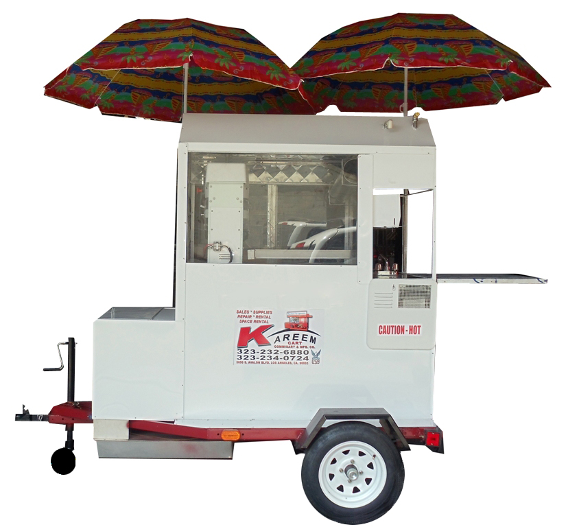Snow Cone, Shaved Ice Trailer Cart With Soda Bin